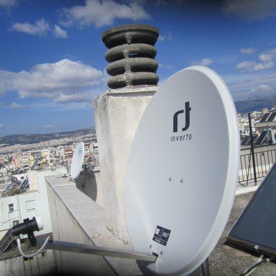 Τοποθέτηση Δορυφορικού Κατόπτρου σε Πολυκατοικία