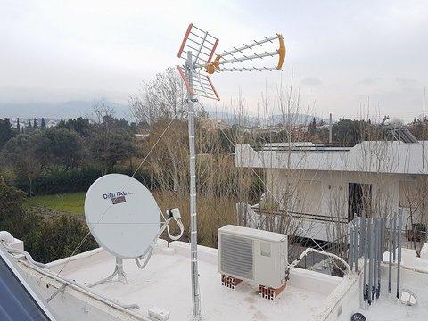 Τοποθέτηση Επίγειας & Δορυφορικής κεραίας σε Οικία